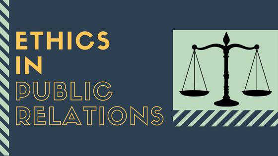 Ethics in PR blog